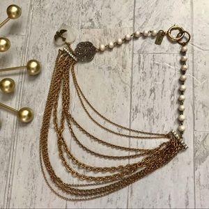 TG multi strand brass chain necklace